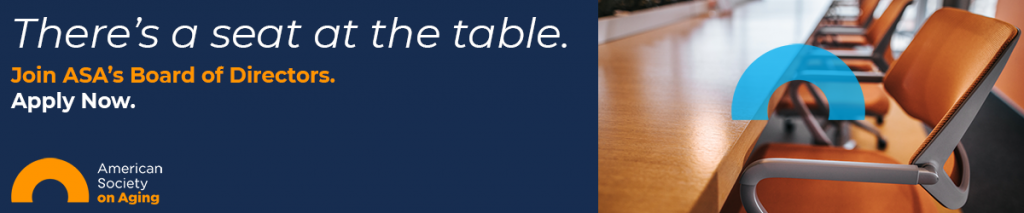 There's a seat at the table. Join ASA's Board of Directors. Apply Now.