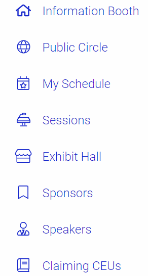 screen capture listing tabs described under